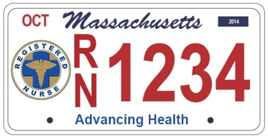 massachusetts RN license plate