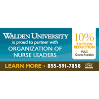 Walden University offers discounts to ONL members on tuition costs.